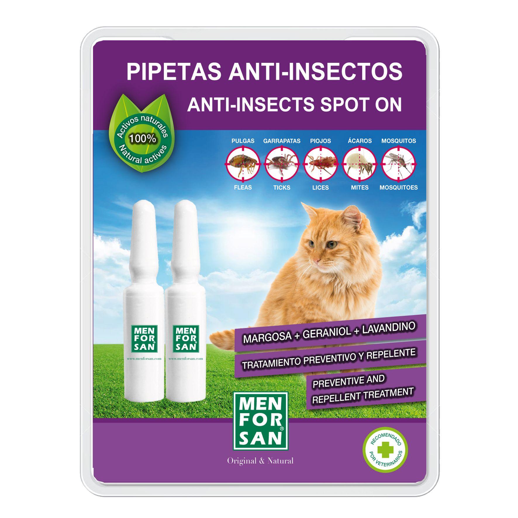 Menforsan Antiparazitní pipety pro kočky - 2 kusy
