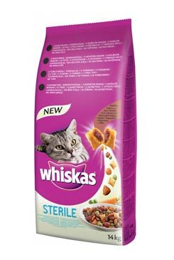 Whiskas Dry s kuřecím masem - STERILE