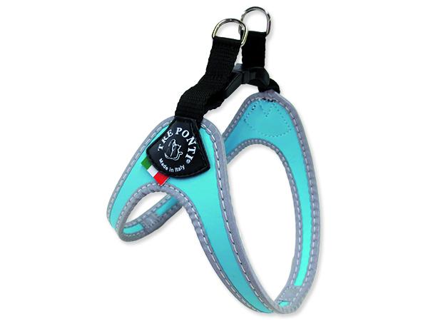 Tre Ponti Reflexní postroj pro psy 1,5-3 kg světle modrý