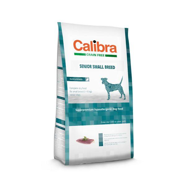 Calibra Dog GF Senior Small Breed Duck 2 kg NEW