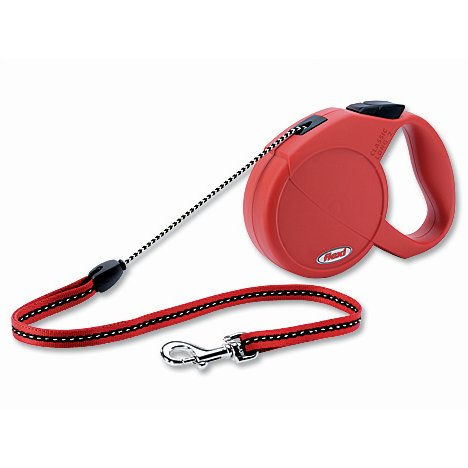 Flexi Long 2 samonavíjecí vodítko červené - 7m/20kg