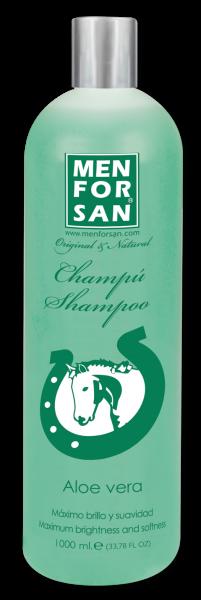 Menforsan Přírodní zklidňující, hojivý šampon s výtažky z Aloe Vera pro koně 1 l