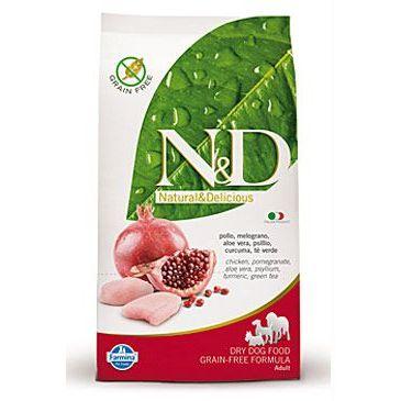 N&D Grain Free Dog Adult Chicken & Pomegranate 800 g