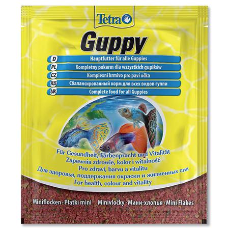 Tetra Guppy food základní krmivo pro ryby sáček 12 g