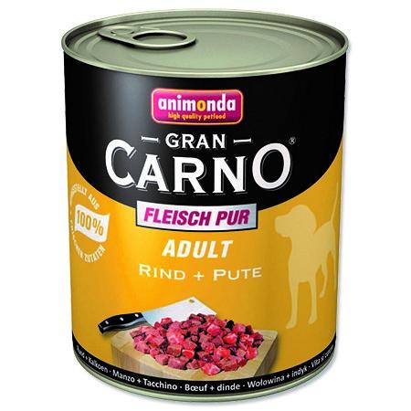 Konzerva pro psy Animonda Gran Carno hovězí + krůta 800 g
