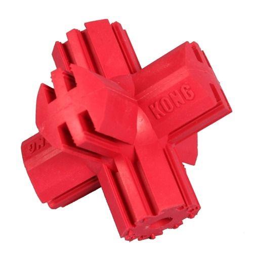 Kong Kříž gumová plnitelná interaktivní hračka pro psy červená - M