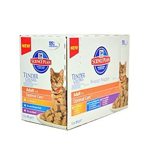 Hill's Feline kapsička Adult Multipack - mix příchutí pro kočky 12x85 g