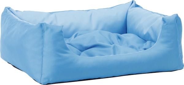 Pelech pro psa Argi obdélníkový s polštářem - modrý - 55 x 40 x 19 cm