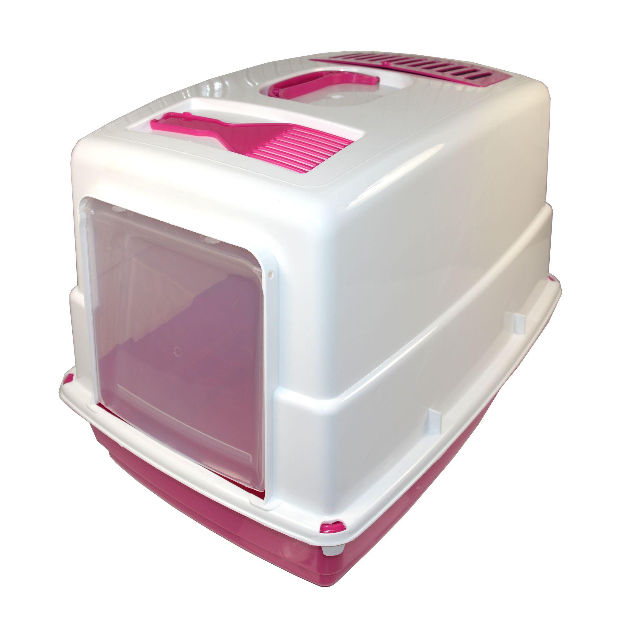 Krytá toaleta s filtrem a lopatkou Argi - růžová - 54 x 39 x 39 cm