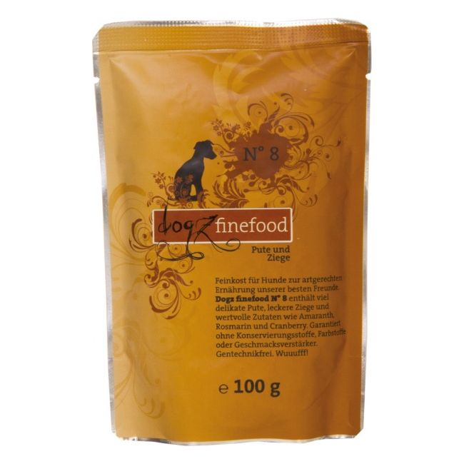 Dogz Finefood No.8 - krůta & koza pro psy 100 g