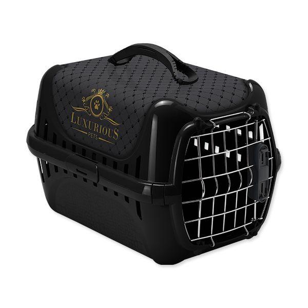 Přepravka MAGIC CAT Luxurious plastová černá