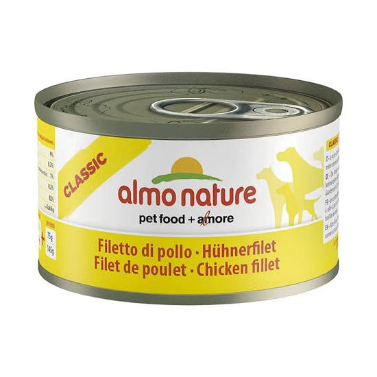 Almo Dog Nature pes konz. telecí+šunka 290g