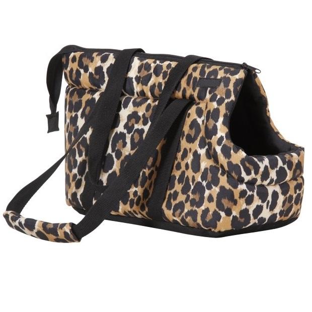 Taška pro psa Argi z polyesteru - vzor leopard - 35 x 21 x 24 cm