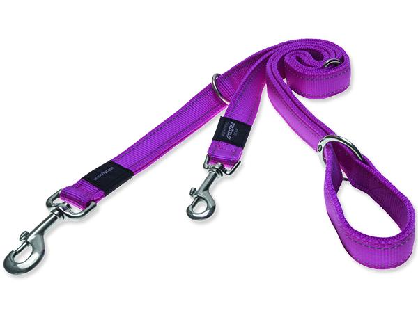 Vodítko pro psa přepínací nylonové reflexní - Rogz Utility - růžové - 2 x 160 cm