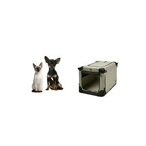 Přepravka pro psy Maelson - černo-béžová - XS, 52x33x33 cm