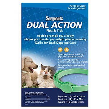 Antiparazitní obojek pro psy a kočky Sergeanťs Dual Action 34 cm