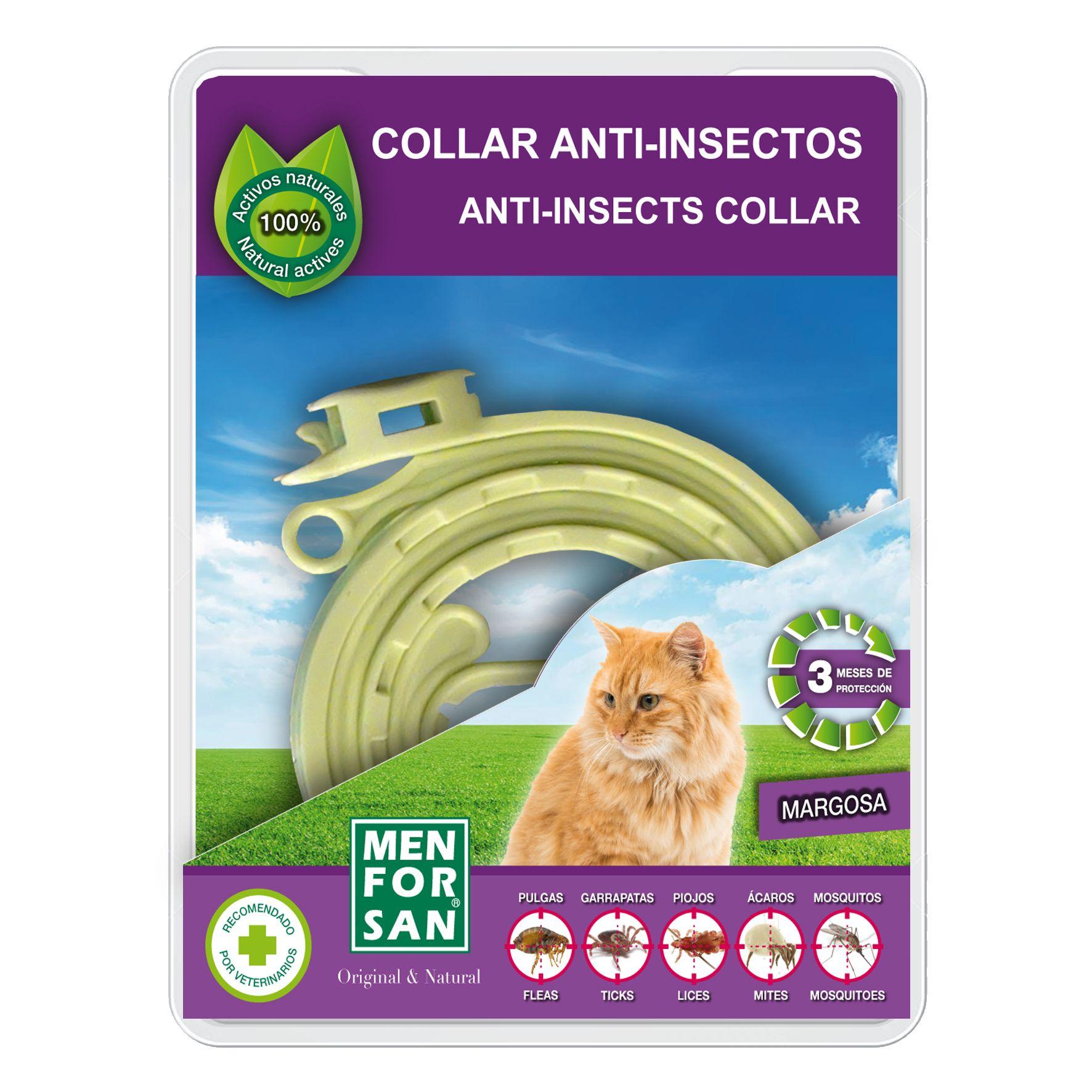 Menforsan Přírodní antiparazitní obojek pro kočky odpuzující klíšťata a blechy 30 cm