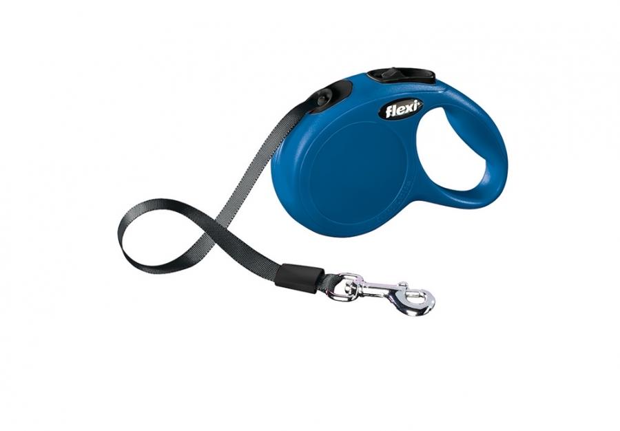 Vodítko FLEXI Classic NEW M-L pásek 5m/50kg modrá