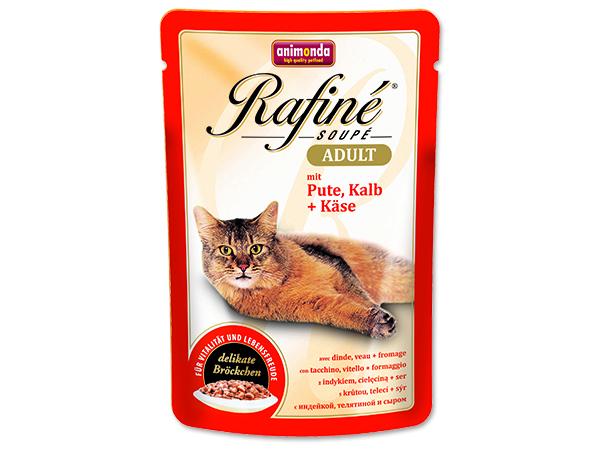 Kapsičky pro kočky Animonda Cat Rafiné Soupe - krůta & telecí & sýr 100 g