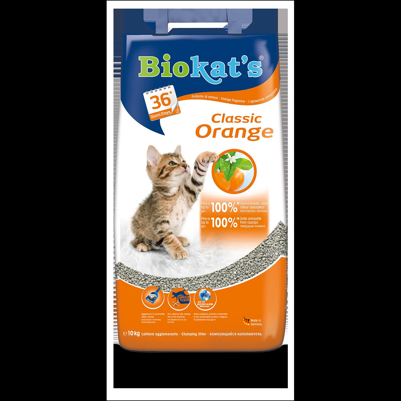 Gimpet Biokats Orange podestýlka hrudkující s vůní pomeranče, 10 kg