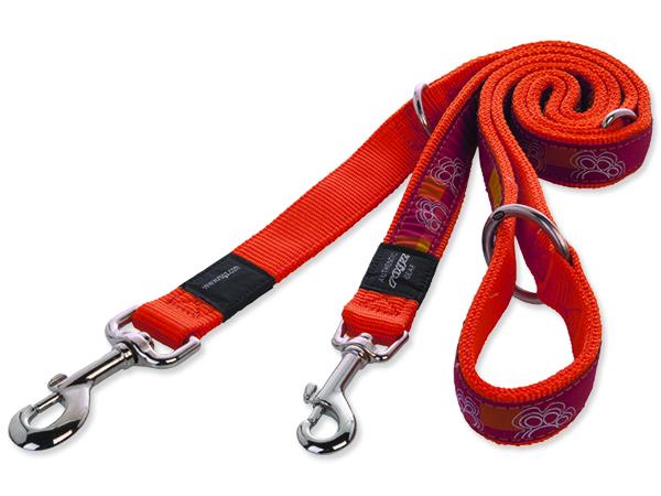 Vodítko pro psa nylonové - přepínací - Rogz Fancy Dress Tango Paws - 1,6 x 160 cm