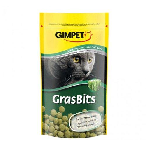 Gimpet Tablety GrasBits s kočičí trávou - pro strávení chlupů 40 g