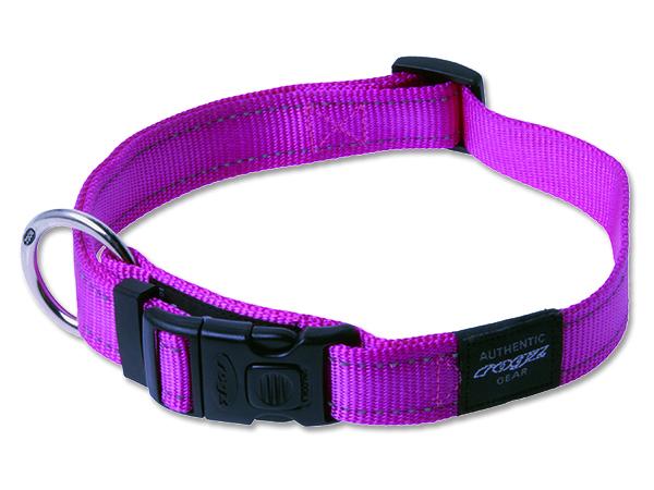 Obojek pro psa nylonový - Rogz Utility - růžový - 2,5 x 43 - 70 cm