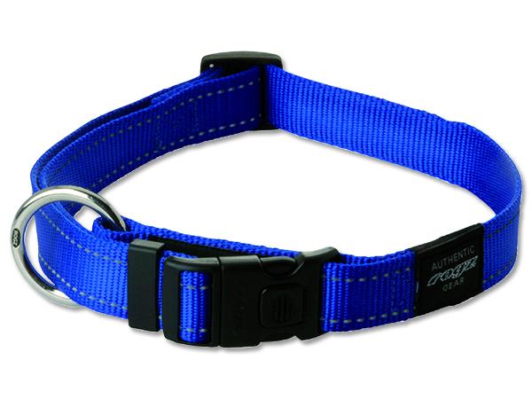 Obojek pro psa nylonový - Rogz Utility - modrý - 2 x 34-56 cm