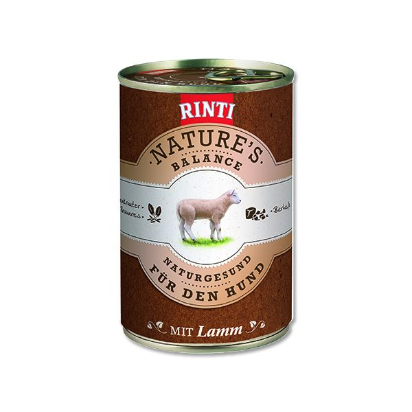 Rinti Nature's Balance jehněčí & hnědá rýže & vejce pro psy 400 g