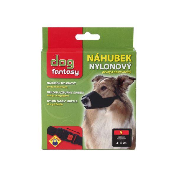 Náhubek DOG FANTASY nylonový černý