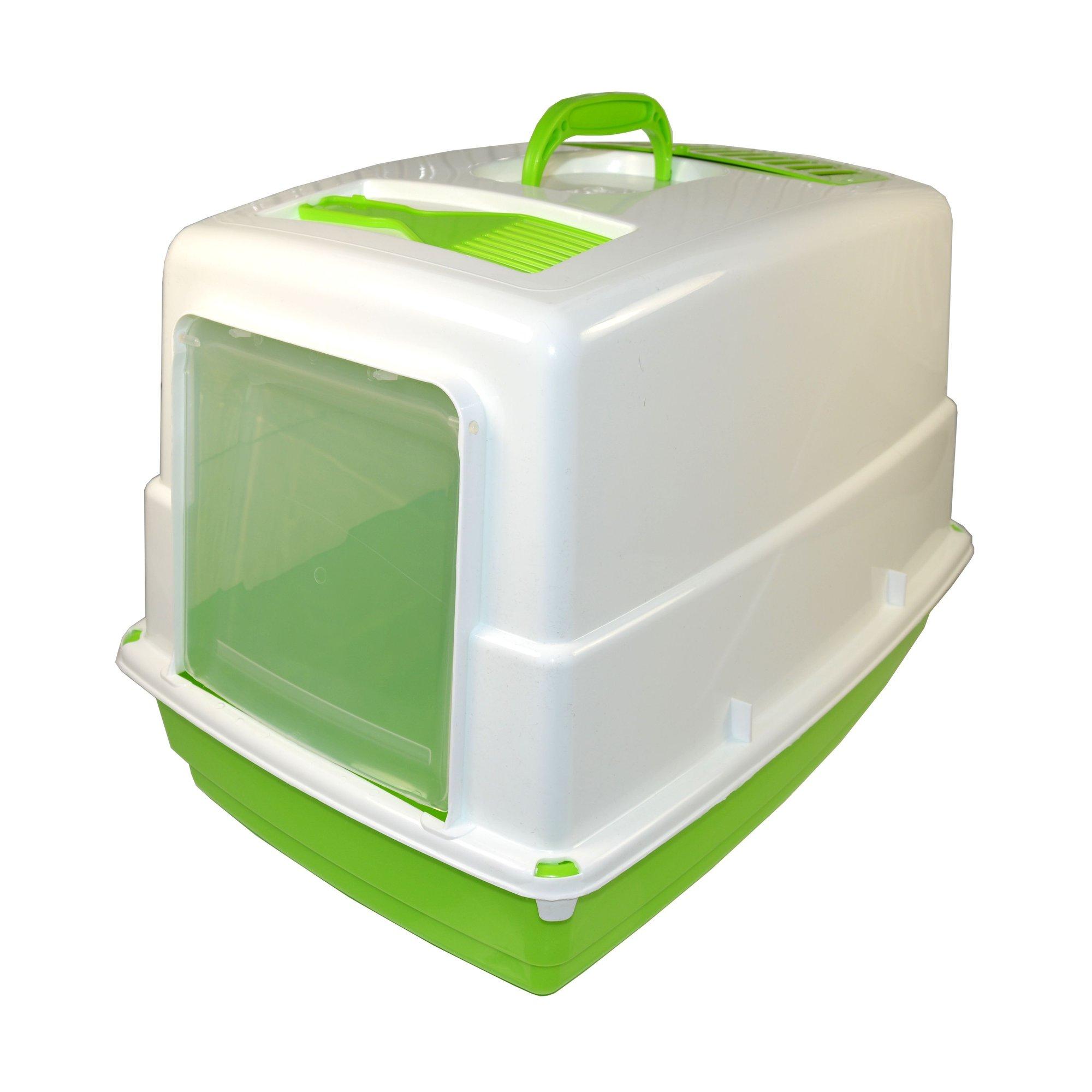 Krytá toaleta s filtrem a lopatkou Argi - zelená - 54 x 39 x 39 cm