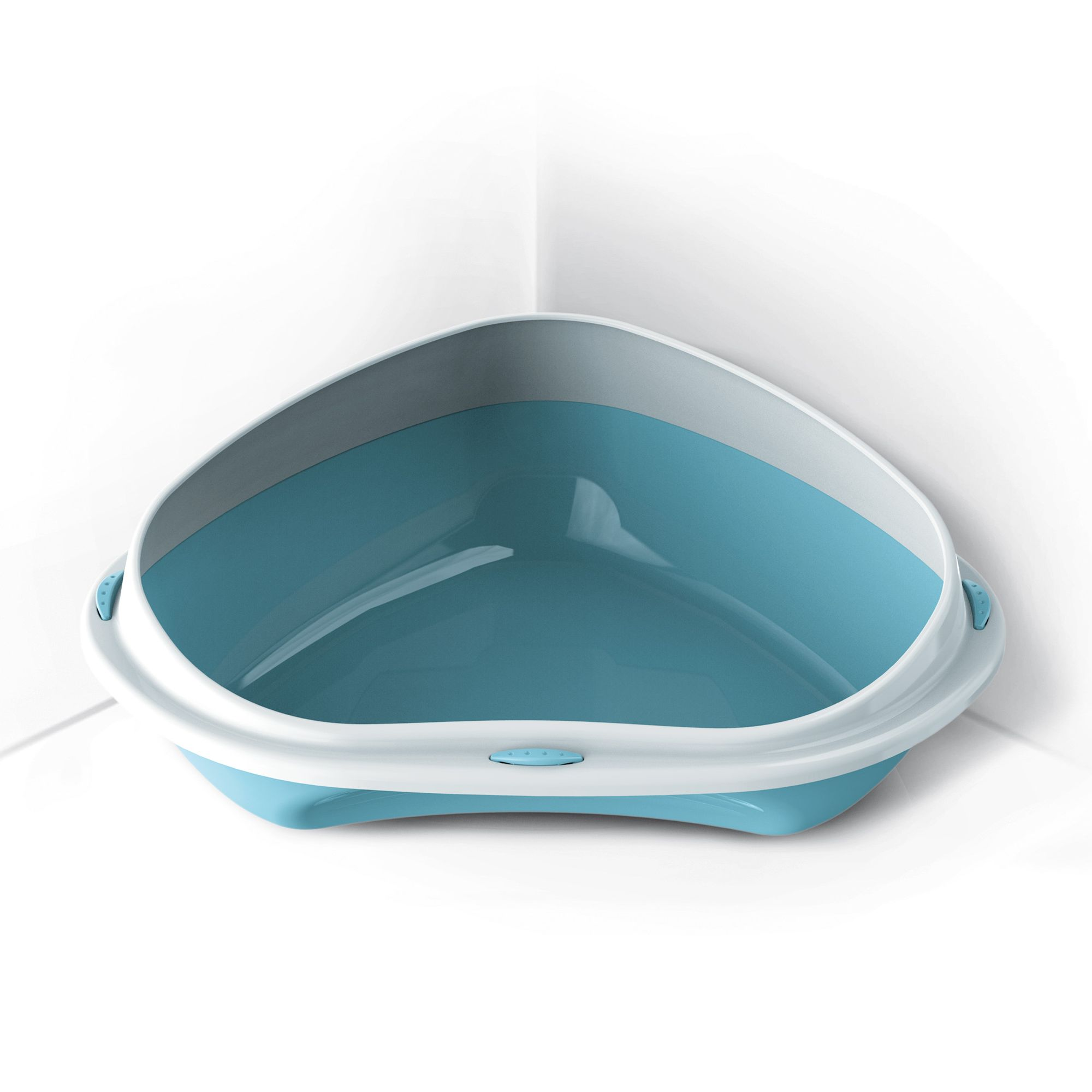 Rohová toaleta s vysokým okrajem Argi - modrá - 49 x 40 x 17,5 cm