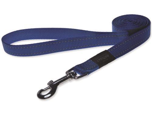 Rogz Utility Nylonové reflexní vodítko pro psy modré - velikost L, 1,4 mx2 cm