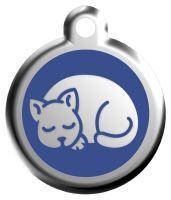 Red Dingo Známka modrá vzor kotě - velikost S, 20 mm