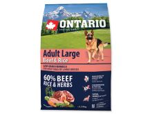 ONTARIO Dog Adult Large Beef & Rice 12 kg