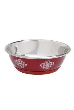 Karlie miska nerez Dog SELECTA motiv 350 ml - 13 cm červená