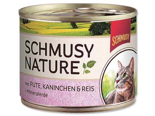 Schmusy Nature Menu konzerva - krocan & králík 190 g