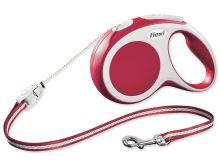 Flexi Vario Samonavíjecí vodítko lankové červené - 8m/12kg