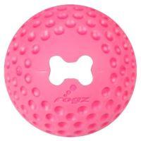 Rogz Gumz gumový míček pro psy plnicí růžový