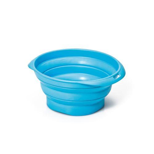 Silikonová cestovní miska Argi - modrá - 350 ml