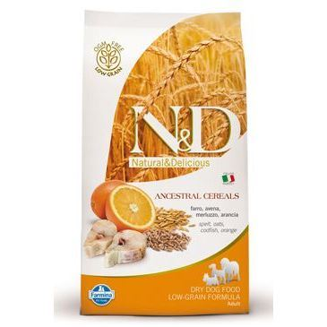N&D Low Grain Dog Adult Mini Codfish & Orange 2,5 kg