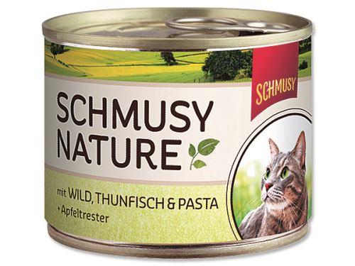 Schmusy Nature Menu konzerva - zvěřina & tuňák 190 g