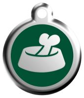 Red Dingo Známka zelená vzor miska - velikost L, 37 mm