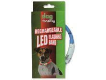 Dog Fantasy obojek Svítící LED modrý 45 cm