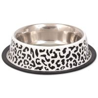 Miska DOG FANTASY nerezová s gumou leopard 23 cm