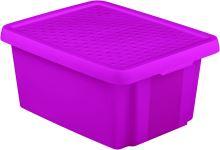 Curver Úložný box ESSENTIALS 20l s víkem fialový