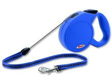 Flexi Long 2 samonavíjecí vodítko modré - 7m/20kg