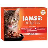 Kapsičky IAMS Cat výběr ze suchozemských mas v omáčce multipack 1020 g