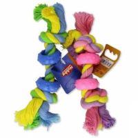 KOŠ - Hračka bavl. + guma Čínka barevná  Nobby 16 cm 1 ks