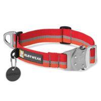 Ruffwear obojek pro psy, Top Rope Dog Collar, červený, velikost L